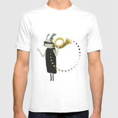 THE INTUITIVE QUEEN SMALL Mens Fitted Tee White