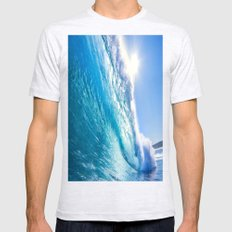 Blue Waves Mens Fitted Tee Ash Grey SMALL