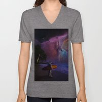 Space Surfer Unisex V-Neck