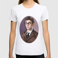 The Tenth Doctor Womens Fitted Tee Ash Grey SMALL