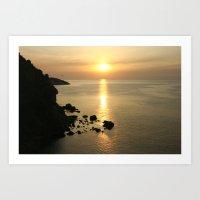 Sunset in Elba Art Print