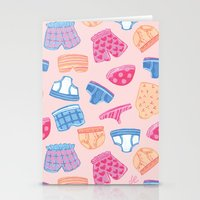 Underwear Pattern Stationery Cards