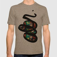 Stained Glass  Mens Fitted Tee Tri-Coffee SMALL