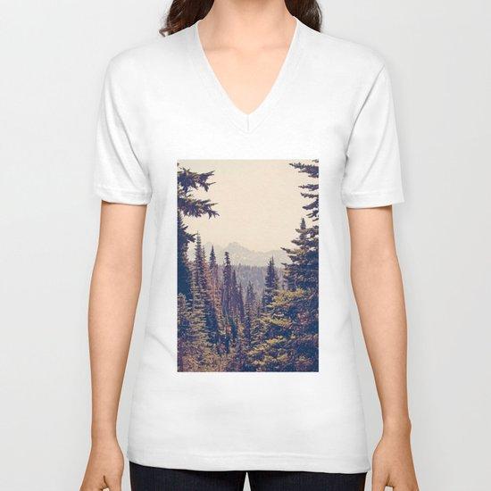 Mountains through the Trees V-neck T-shirt