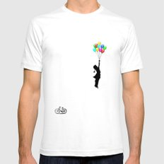 balloons SMALL Mens Fitted Tee White