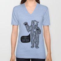Scary Bear 2 Unisex V-Neck