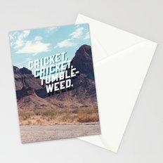 Cricket, cricket, tumbleweed. Stationery Cards