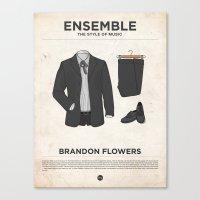 Ensemble - Brandon Flowers Canvas Print