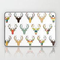 retro deer head white Laptop & iPad Skin