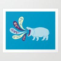 Hippopottymouth Art Print