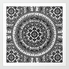 Black And White Mandala … Art Print
