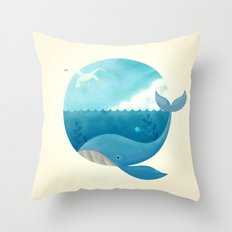 Whale & Seagull (US and THEM) Throw Pillow