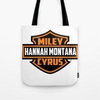 Miley Cyrus Hannah Monta… Tote Bag