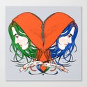Clementine's Heart Canvas Print
