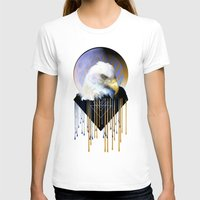 Wise Eagle Womens Fitted Tee White SMALL