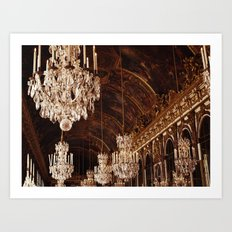 Hall of Mirrors. Great Hall of Versailles. Art Print