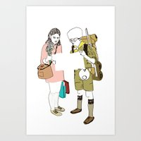 moonrise kingdom Art Prints featuring moonrise kingdom by joshuahillustration