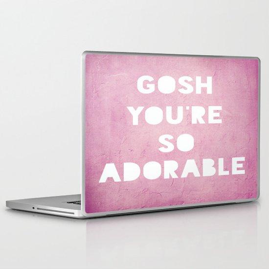 Gosh, Adorable Laptop & iPad Skin