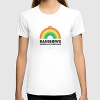 Rainbows should be portable. Womens Fitted Tee White SMALL