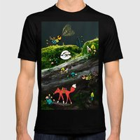 Forest Life Mens Fitted Tee Black SMALL