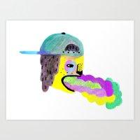 Siky Pup Art Print