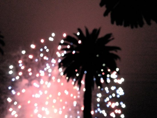 Fireworks over Santa Barbara Art Print