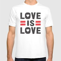 Love Is Love Mens Fitted Tee White SMALL