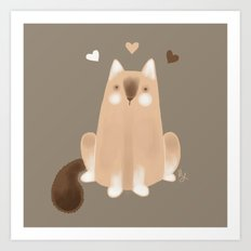 S'mores Cat Art Print