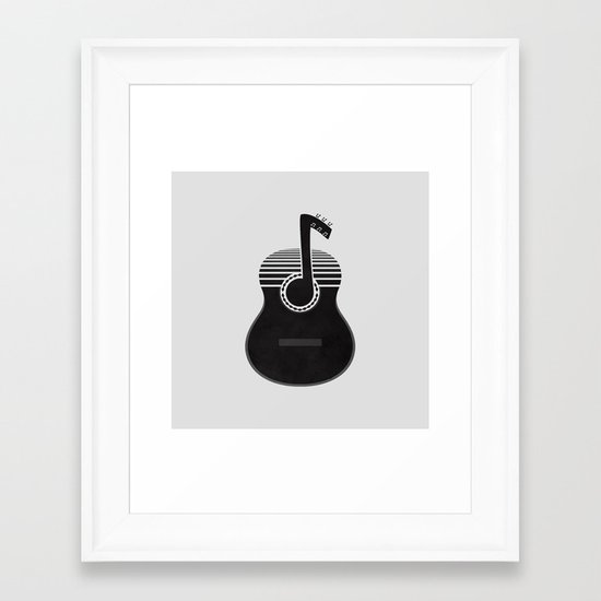Classical Notes Framed Art Print