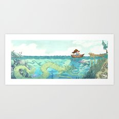 The Lake of Lurking Monsters Art Print