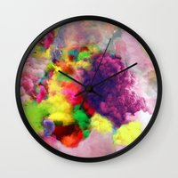 Colorful Smoke And Mirro… Wall Clock