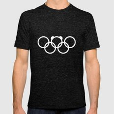 Olympic games logo 2014. Sochi. Bear. Mens Fitted Tee Tri-Black SMALL