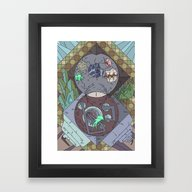 Framed Art Print featuring La Matrice by Alexis Giroux