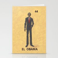 "obama Stationery Cards featuring EL OBAMA by ""dfrnt"""