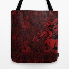 Dragon Damask Tote Bag