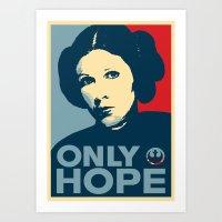Leia's Only Hope Art Print