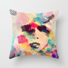 Abstract girl Throw Pillow