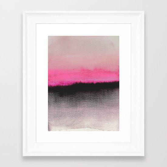 Double Horizon Framed Art Print