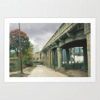 Boonville Bridge I Art Print