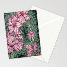 Pink Gladiolas Stationery Cards