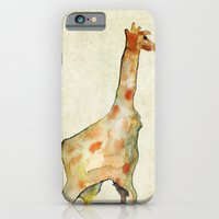 old camouflage giraffe iPhone 6 Slim Case