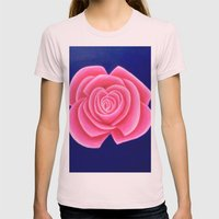 Pink Womens Fitted Tee Light Pink SMALL