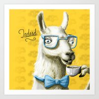 The Fancy Llama Art Print