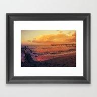 Sundown At The Sea Framed Art Print