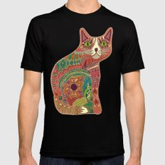 sugar cat Mens Fitted Tee Black SMALL