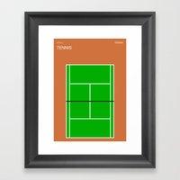 Poster Nintendo Tennis Framed Art Print