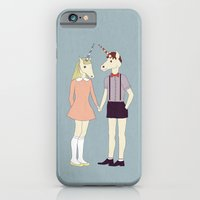 iPhone & iPod Case featuring Our love is unique, we are Unicorns by basilique