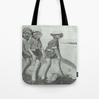 Monkey Manatee  Tote Bag