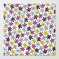 Allium Ditsy Canvas Print