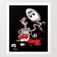 Blood Dumpster Art Print